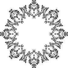 clipart decorative ornamental floral flourish design 14