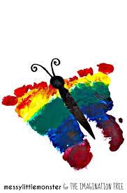 rainbow footprint butterfly keepsake the imagination tree