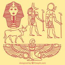 imagenes egipcias para imprimir elementos de la cultura egipcia esbozados descargar vectores premium