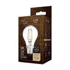 a19 led filament bulb 4 watt dimmable 40w equiv 470 lumens by euri