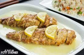cuisine chinoise poulet recette de poulet au citron chinois