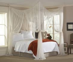 majesty king queen size white retangular canopy bed net scs mall