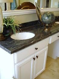 Vanity Bathroom Tops by Double White Wooden Vanity With Black Butterfly Verde Granite