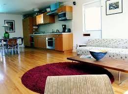 small space design tip use a round rug apartment therapy
