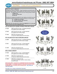 empi weber ida epc 48 and 51 mm carburetor kits with linkage and