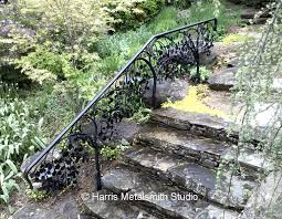 Banister Rails Metal Tree Branch Railing Metal Tree Garden Railing A Nearby Weeping