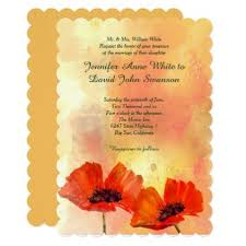 cards for marriage poppies custom wedding invitation wedding invitations cards