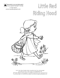 the little red riding hood fairy tale coloring pages and little