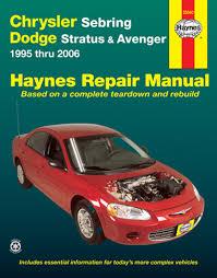 haynes 25040 repair manual chrysler sebring u0026amp dodge stratus