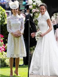 wedding dress kate middleton kate middleton s royal ascot dress looks like pippa middleton s