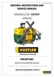 katipo sprayer instruction manual by hustler equipment issuu