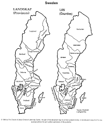 Scandinavia On Map Swedish Map For Genealogy Research Guidance Heritage