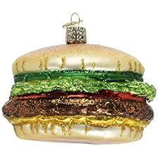 world cheeseburger glass blown ornament