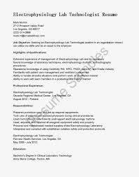 Hvac Resume Samples Pdf by Resume Format For Medical Laboratory Technologist