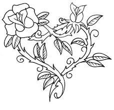 roses and hearts hearts and roses with sharp coloring page color