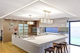 hi tech kitchen with large island contemporary kitchen in