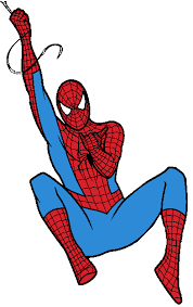 spider man black white clipart 1985859