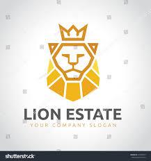 lion king template lion logoreal estate logoking logoelements brand stock vector