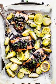 easy superfood baked salmon paleo one pan meal