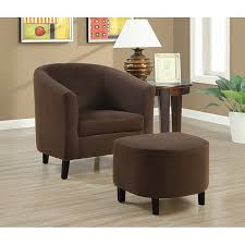 Accent Chairs And Ottomans Chocolate Brown Accent Chair And Ottoman Free Shipping Today