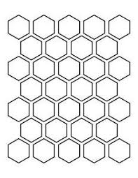 6 inch hexagon pattern use the printable outline for crafts