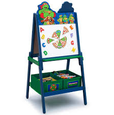 nickelodeon teenage mutant ninja turtles wooden double sided easel