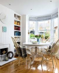 Beachy Dining Room by Chic Antique Drafting Table In Dining Room Beach Style With Narrow