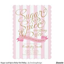 sugar and spice baby baby shower invitation shower