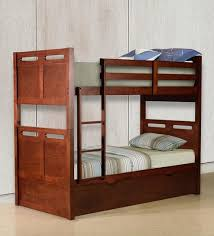Bunk Bed With Pull Out Bed Buy Mcluis Bunk Bed With Pull Out Bed In Walnut Finish By