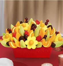 edibles arrangement fruit festival with dipped strawberries kremp