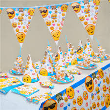 birthday party supplies emoji smile cry kids birthday party decoration set party supplies