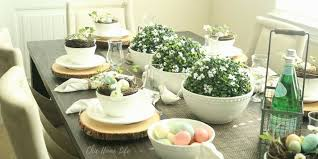 Easter Decorations For A Table by 5 Simple Easter Decor Ideas For Your Kitchen Table Chic Home Life
