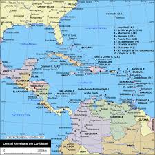 political map of central america and the caribbean caribbean map map of the caribbean maps and information about