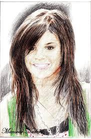 selena gomez colour sketch by jaysoncage24 on deviantart