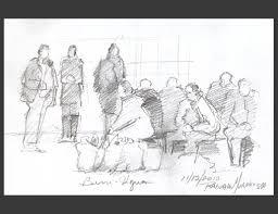 art plein air sketching people in the metro subway u2013 drawing