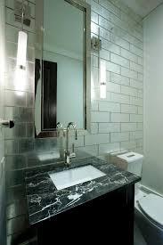 mirror tiles for bathroom mirrored tiles backsplash contemporary bathroom michael abrams