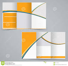 tri fold business brochure template royalty free stock image