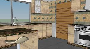 3d formica kitchen design with natural granite cgtrader