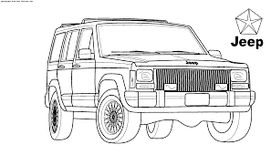army jeep drawing coloring pages