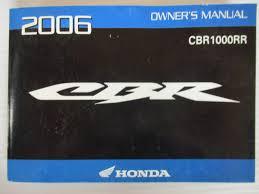 2006 honda cbr cbr1000rr manual del propietario 31mel620 ebay