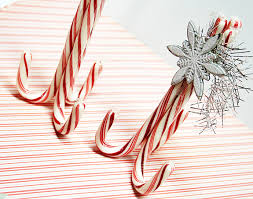 homespun with heart candy cane place card holders