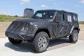 jeep unlimited 2018 spied 2018 jeep wrangler jl unlimited up close 2018 jeep