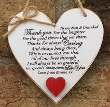 Grandparent Plaques Thank You Grandparents Plaque Nan Grandad Gift 10cm Friend Gift