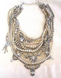 rhinestone necklace wedding images Chunky rhinestone necklace pearl bib statement necklace bridal jpg