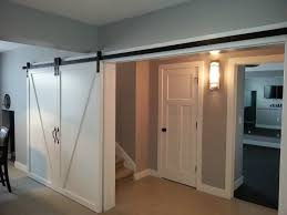Recycled Interior Doors Interior Doors Painted Single Panel Barn Doors Glide Along This