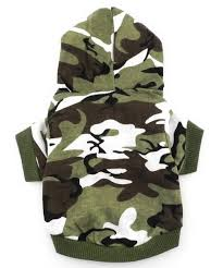 small cat clothes for boys puppy camo hoodie pet shirt green