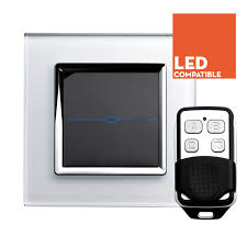 rts2020dl led dimmer touch u0026 remote light switch 1 gang white