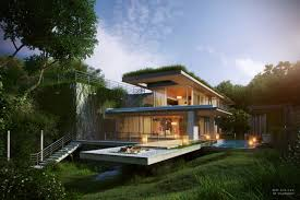 Houzz Home Design Inc Indeed Modern Upper Ground Home Design With Glass Wall And Rooftop Garden