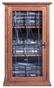 Media Cabinet Glass Doors Mission Audio Tower With Glass Door Traditional Media Cabinets