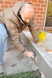 Repair Concrete Patio Cracks How To Repair Cracked Concete Homeimprovement Diy